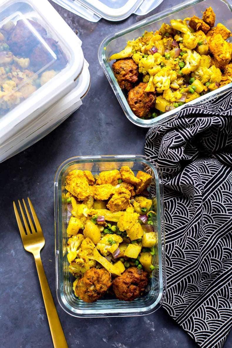 Chicken Tandoori Meal Prep Bowls