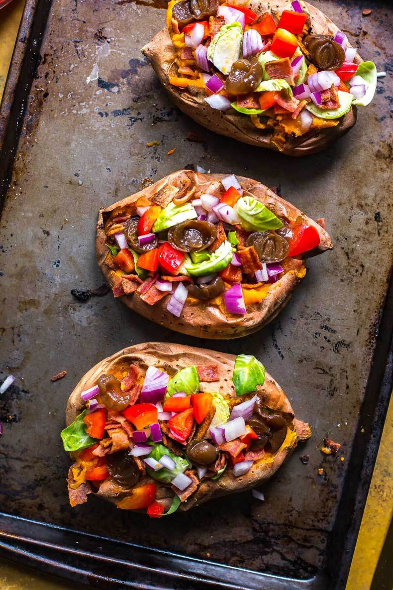 Stuffed Balsamic Sweet Potatoes