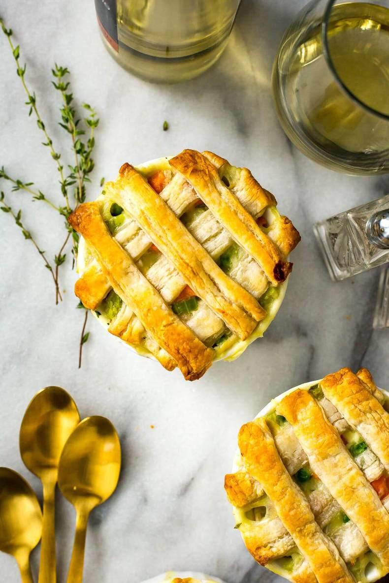 Super Easy Mini Chicken Pot Pies