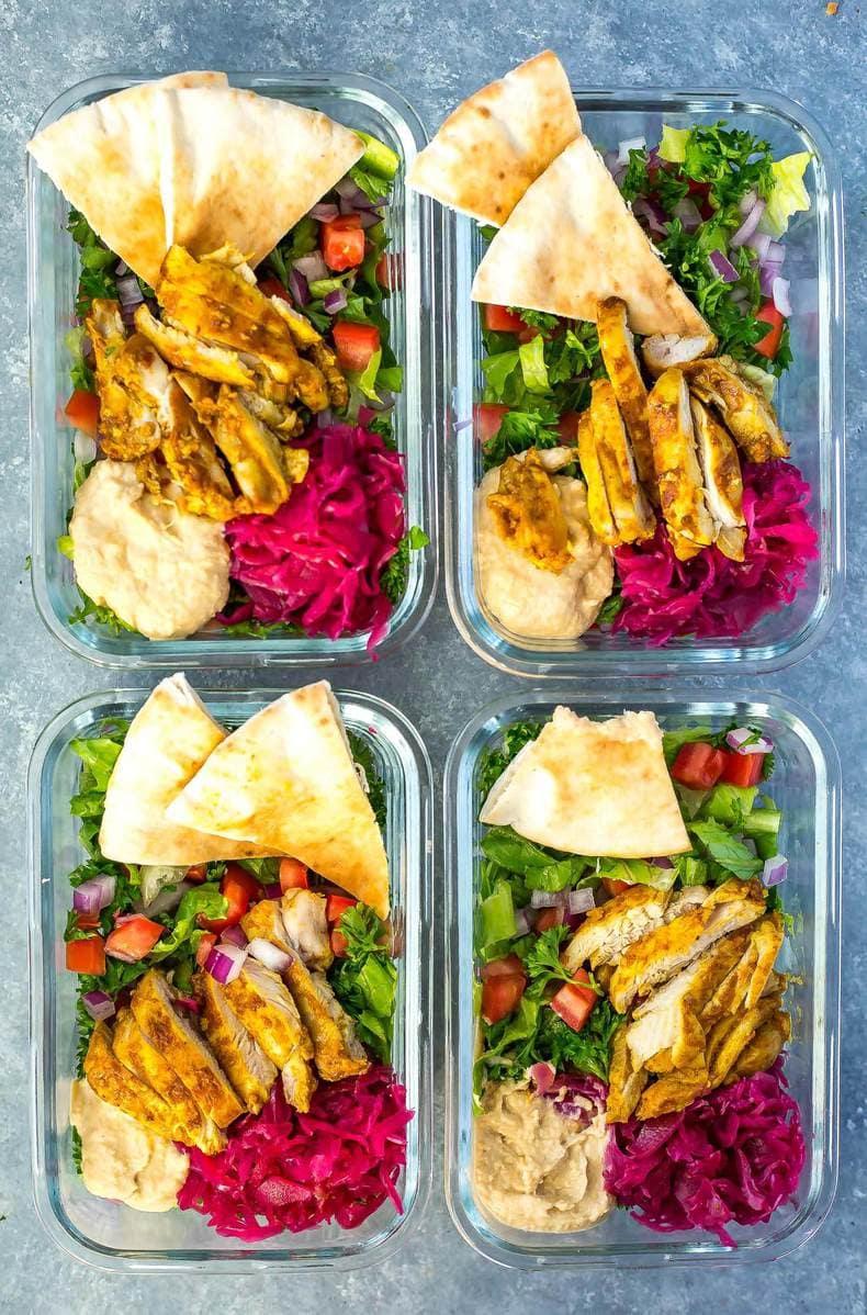 Chicken Shawarma Meal Prep Bowls