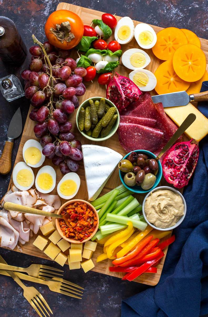 protein packed healthy charcuterie board