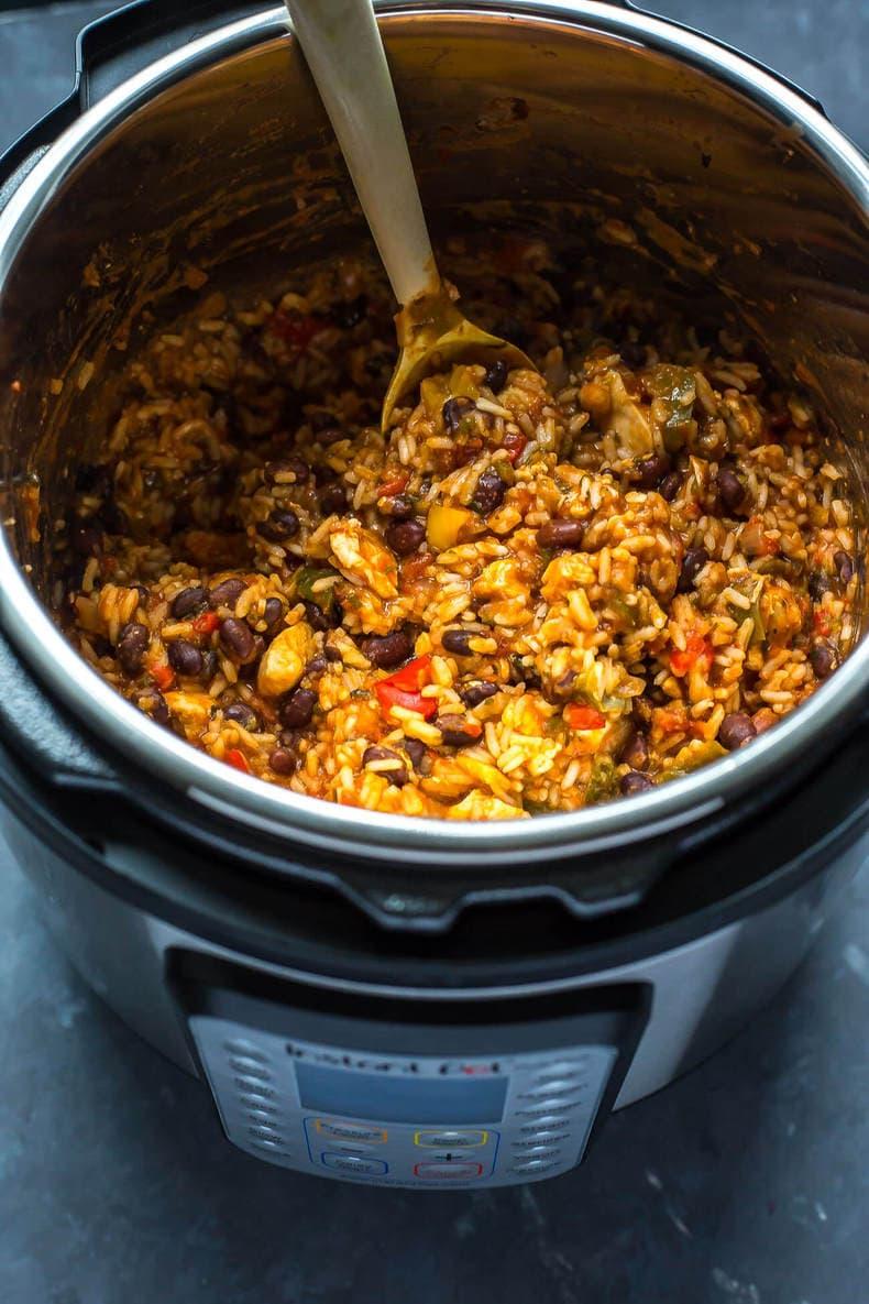 20-Minute Instant Pot Chicken Burrito Bowls