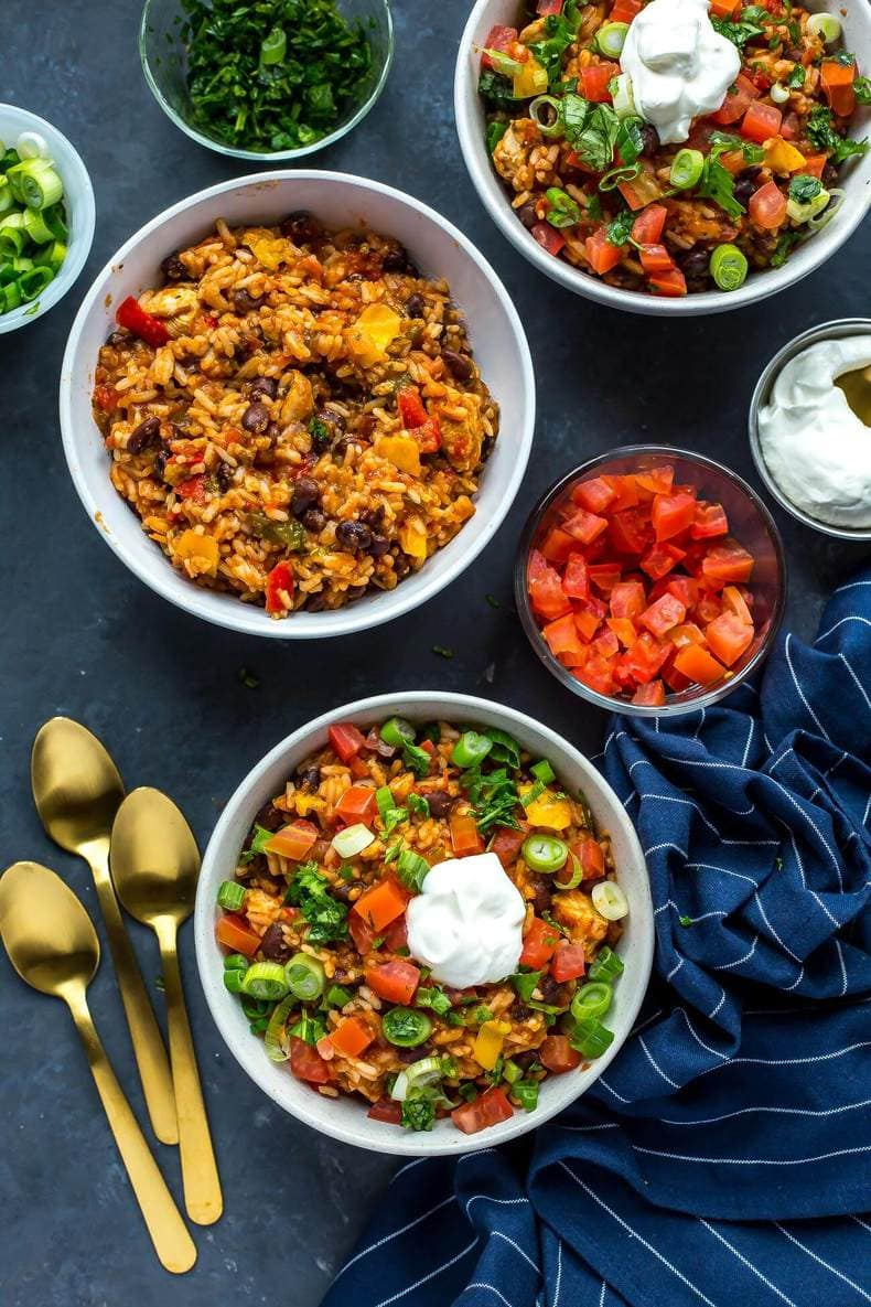 20-Minute Instant Pot Chicken Burrito Bowls