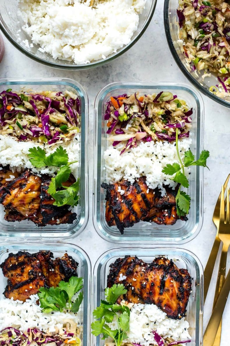 Korean Chicken Meal Prep Bowls