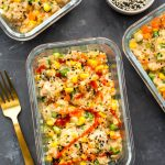 Instant Pot Chicken Fried Rice Meal Prep Bowls-8