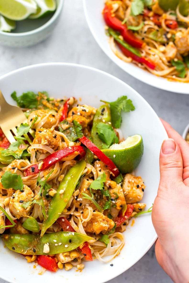 Instant Pot Red Curry Chicken Noodles