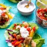 Low Carb Mexican Chicken Lettuce Wraps