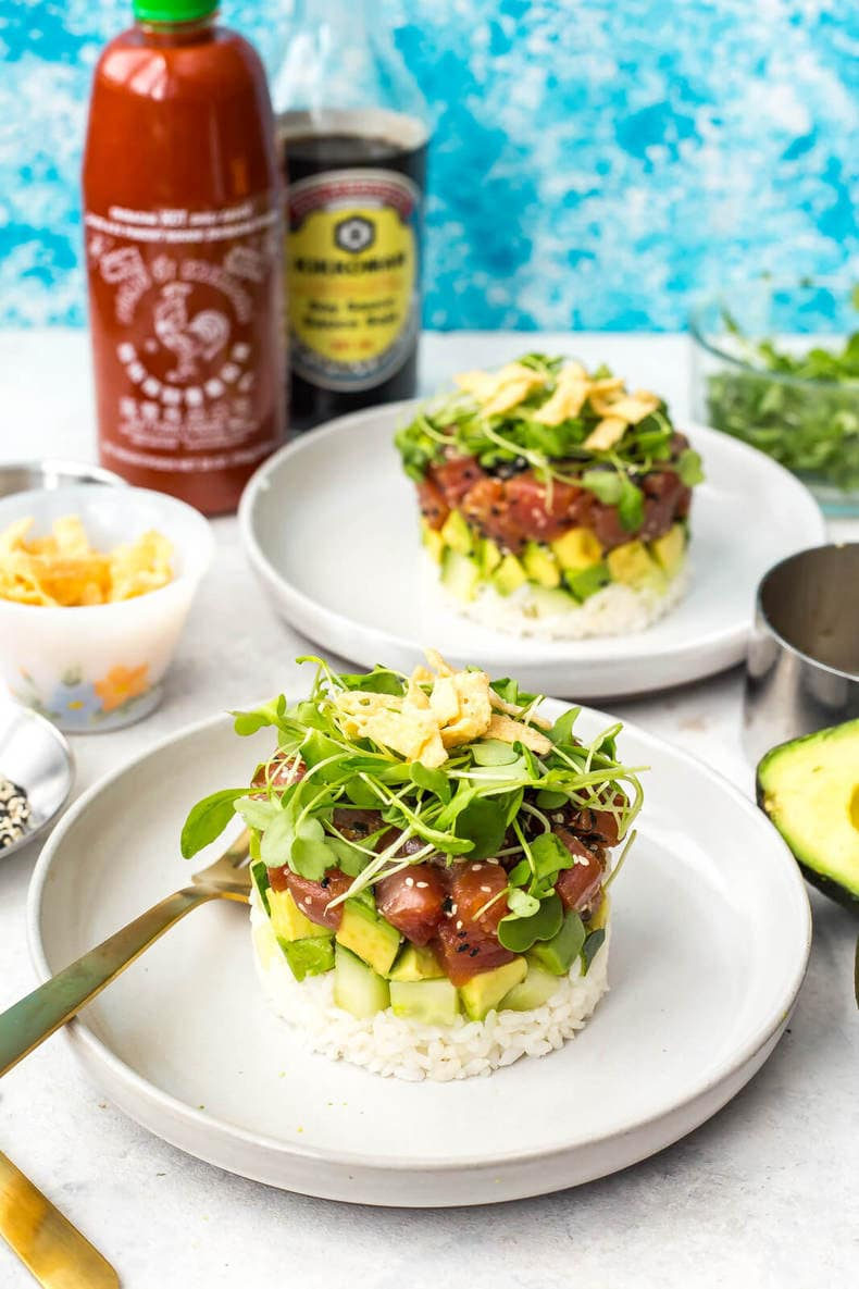 Ahi Tuna Sushi Stacks (Cactus Club Copycat)