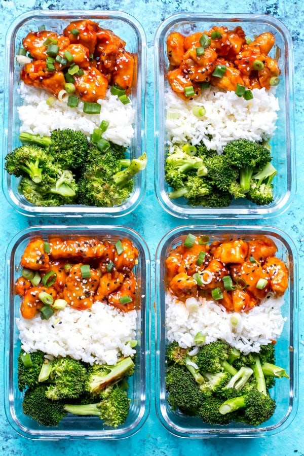 Honey Sriracha Chicken Meal Prep Bowls The Girl On Bloor
