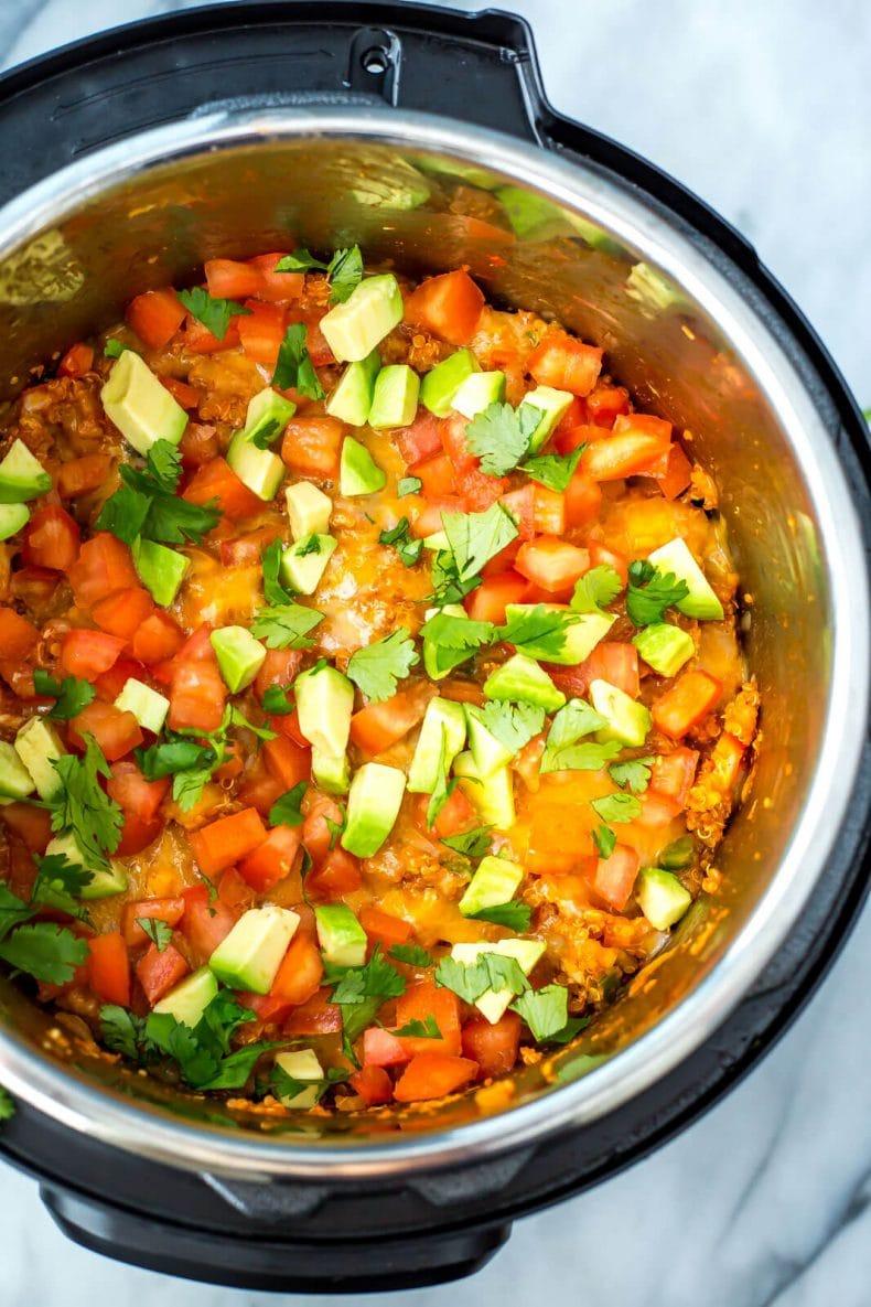 Instant Pot Enchilada Quinoa Casserole