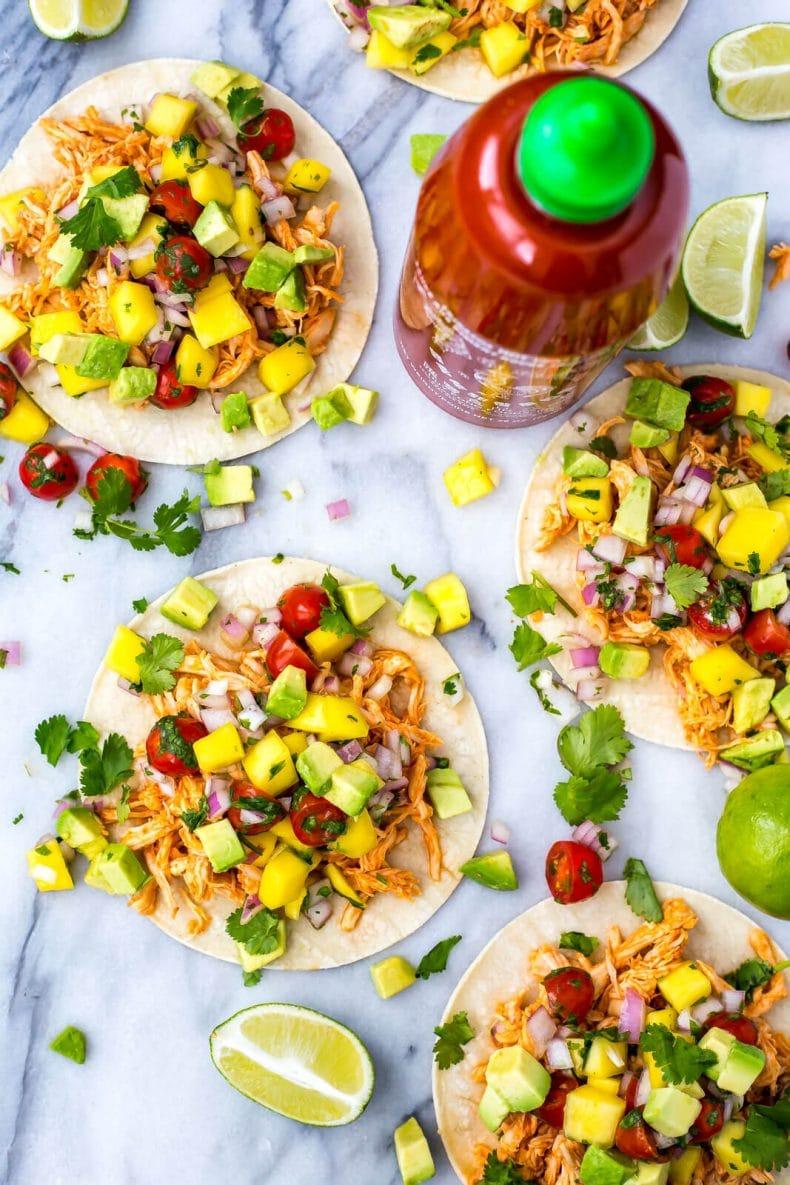 Instant Pot Sriracha Chicken Tacos