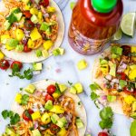 Instant Pot Sriracha Chicken Tacos