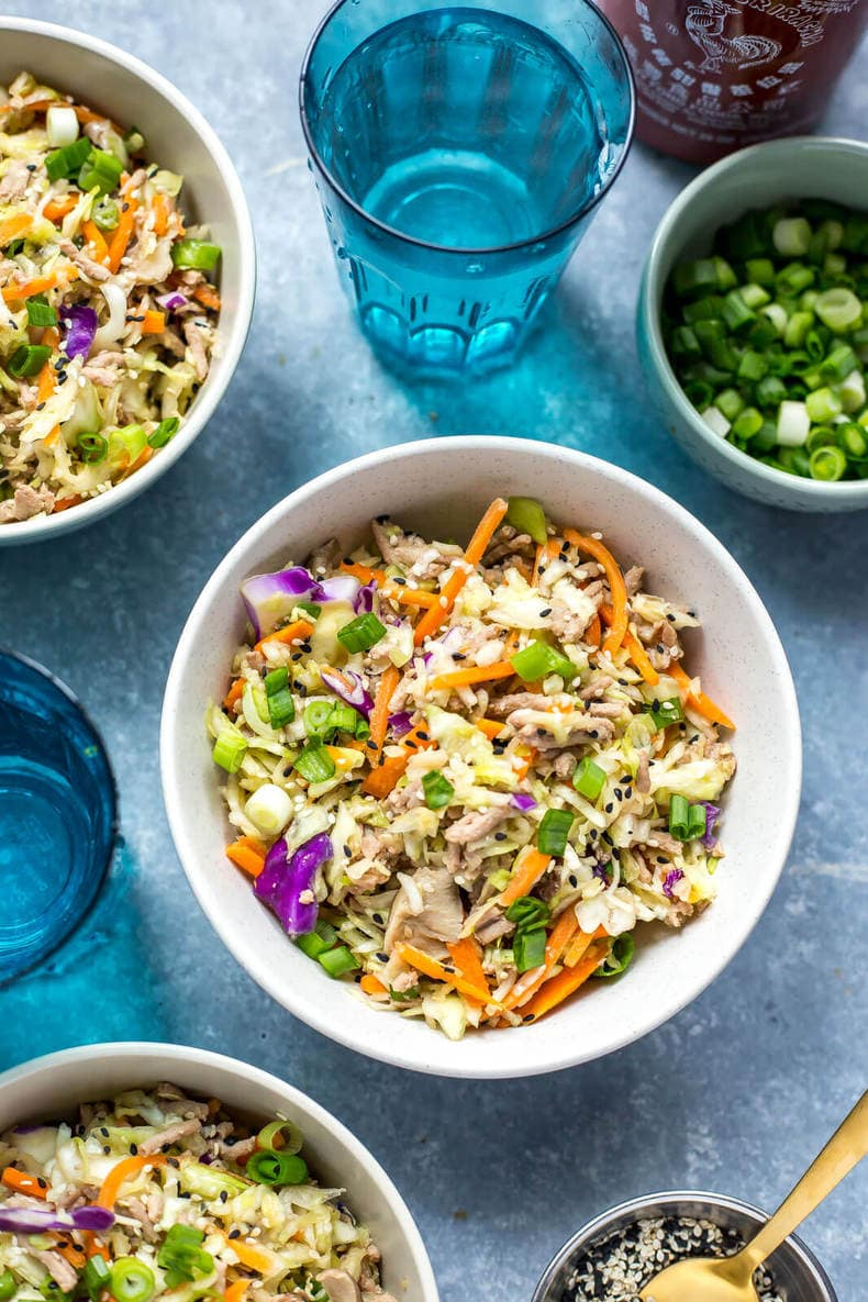 Low Carb Instant Pot Egg Roll Bowls