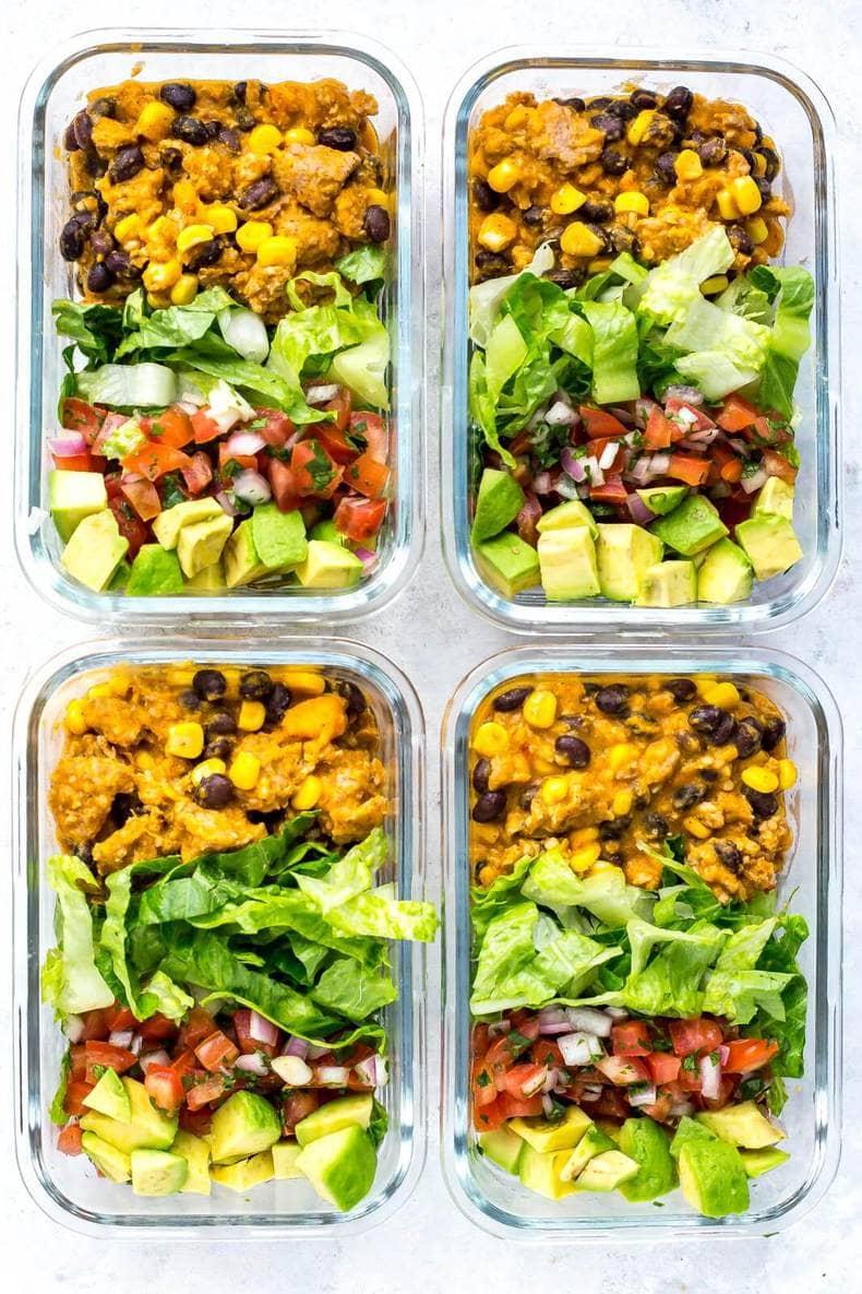 Meal Prep Instant Pot Taco Bowls