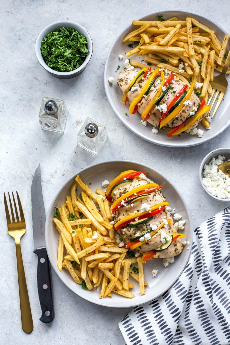 Baked Hasselback Greek Chicken