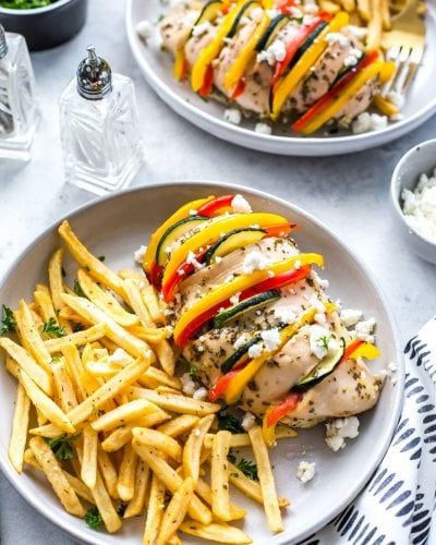 baked hasselback Greek chicken with lemon-oregano marinade
