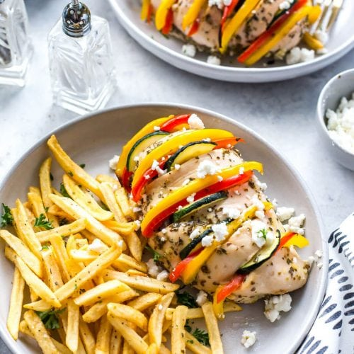 Baked Hasselback Greek Chicken