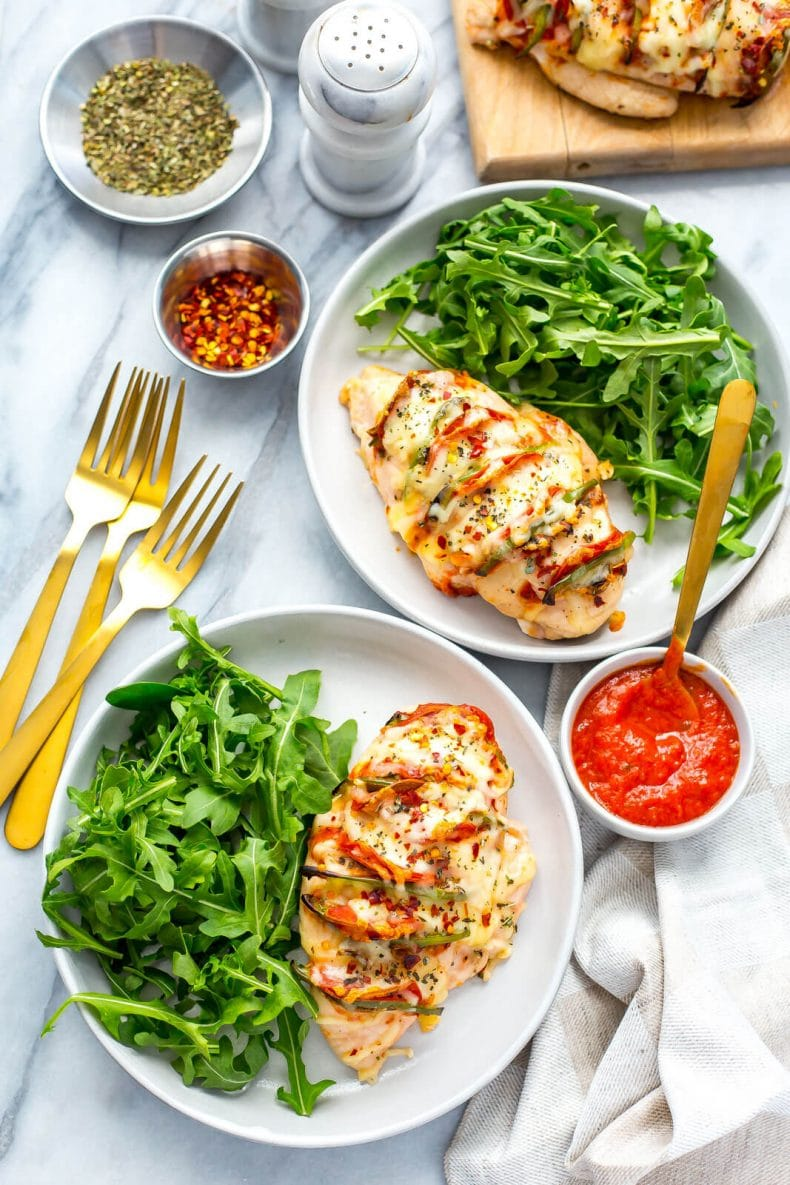Hasselback Pizza Stuffed Chicken