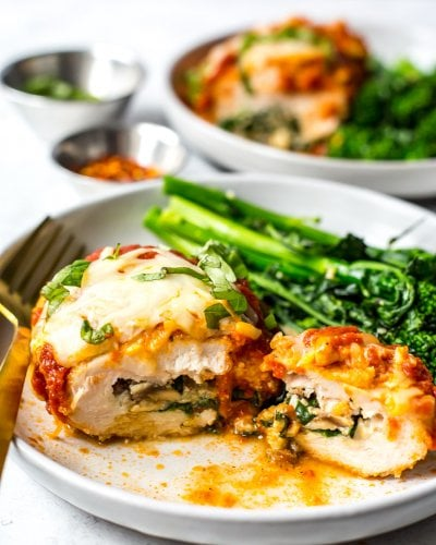 Easy Spinach Stuffed Chicken Roll Ups