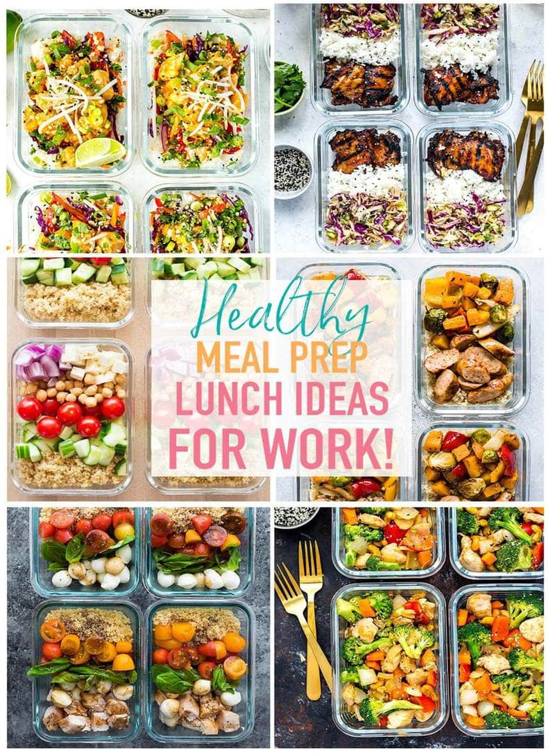 20 easy healthy meal prep lunch ideas for work - the girl on bloor