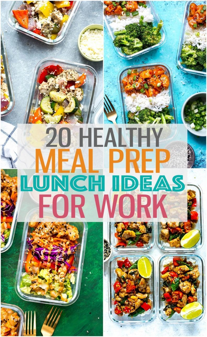 These 20 Easy, Healthy Meal Prep Lunch Ideas for Work are the perfect way to stay on track with your weekly meal planning #mealprep #lunchideas #lunchrecipes