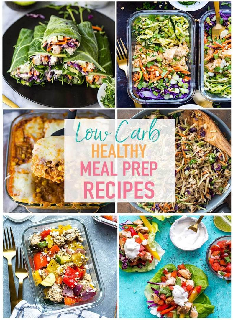 These 17 Easy Low Carb Meal Prep Recipes are perfect for when you want something a little lighter - they're all meals high in protein that are designed to keep you full for longer, and these low carb recipes are packed with healthy fats and veggies!