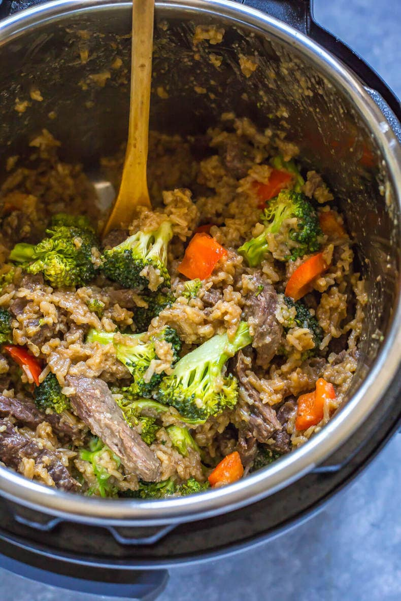 Instant Pot Beef and Broccoli with Rice