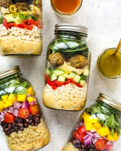 The Ultimate Vegetarian Mason Jar Salad (Two Ways!)