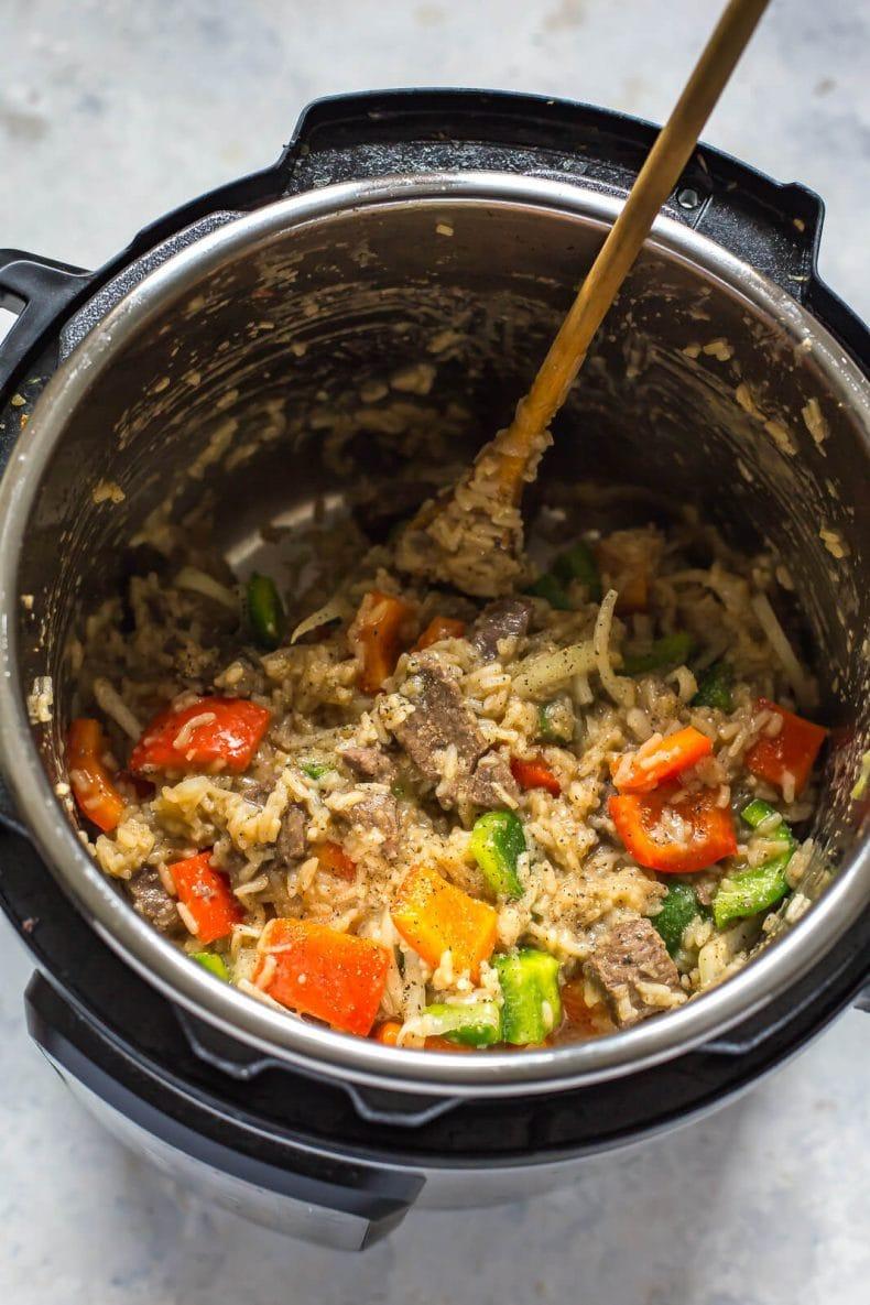 Easy Instant Pot Pepper Steak