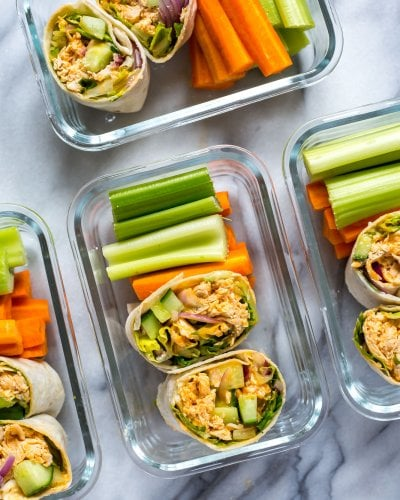 The Ultimate Meal Prep Buffalo Chicken Wrap