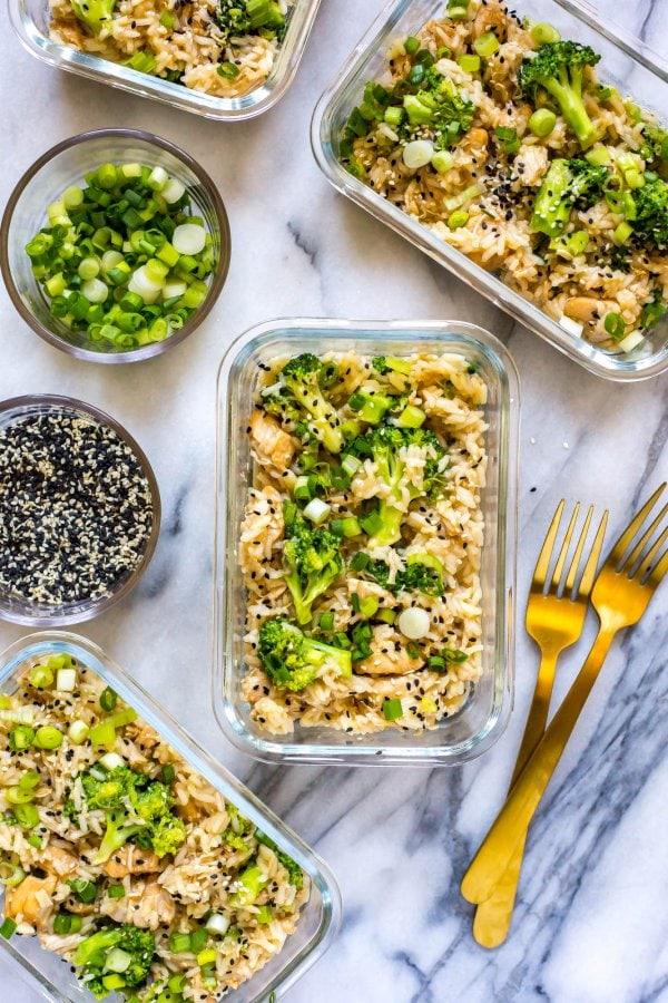 Honey Garlic Chicken Meal Prep Bowls