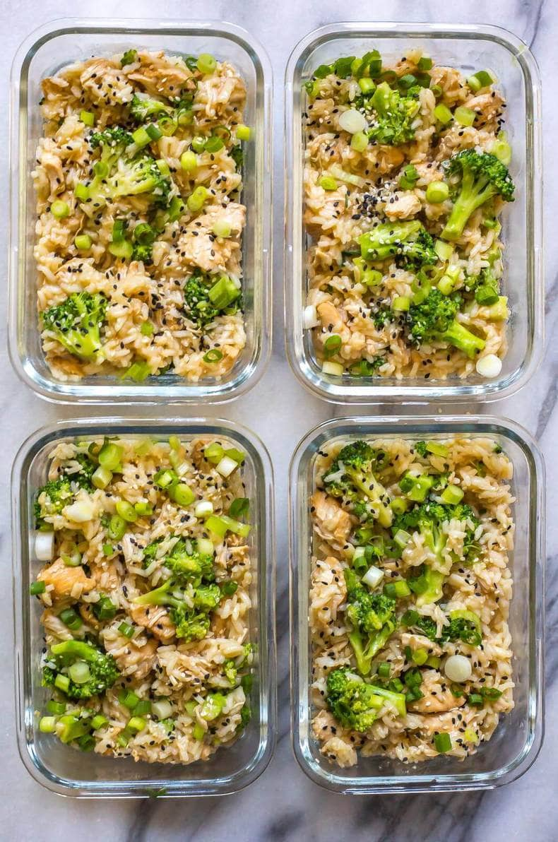 Honey Garlic Chicken Meal Prep Bowls