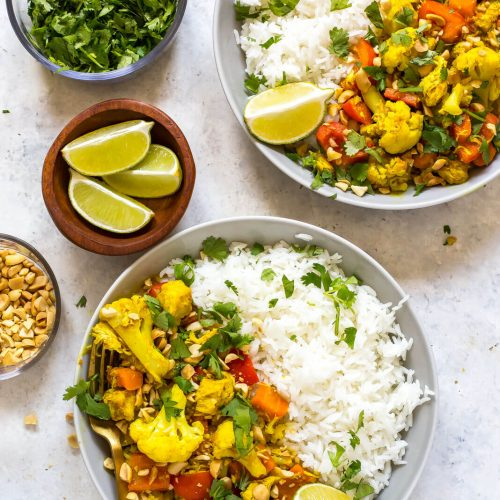 Instant Pot Peanut Coconut Chicken Curry