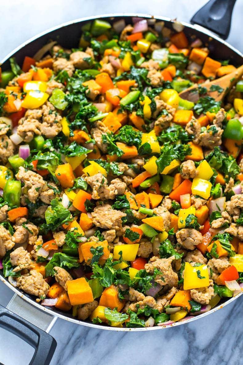 Meal Prep Whole 30 Sweet Potato Hash