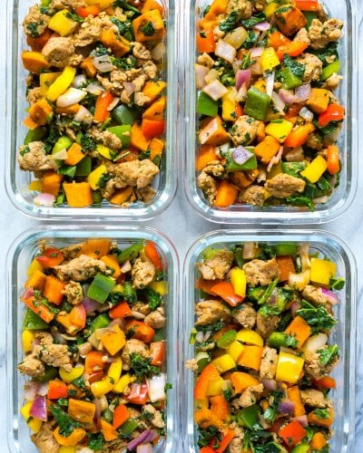 Meal Prep Whole 30 Sweet Potato Hash