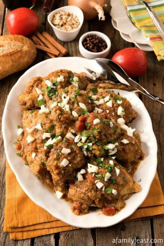 Spanish chicken in Pepitoria sauce