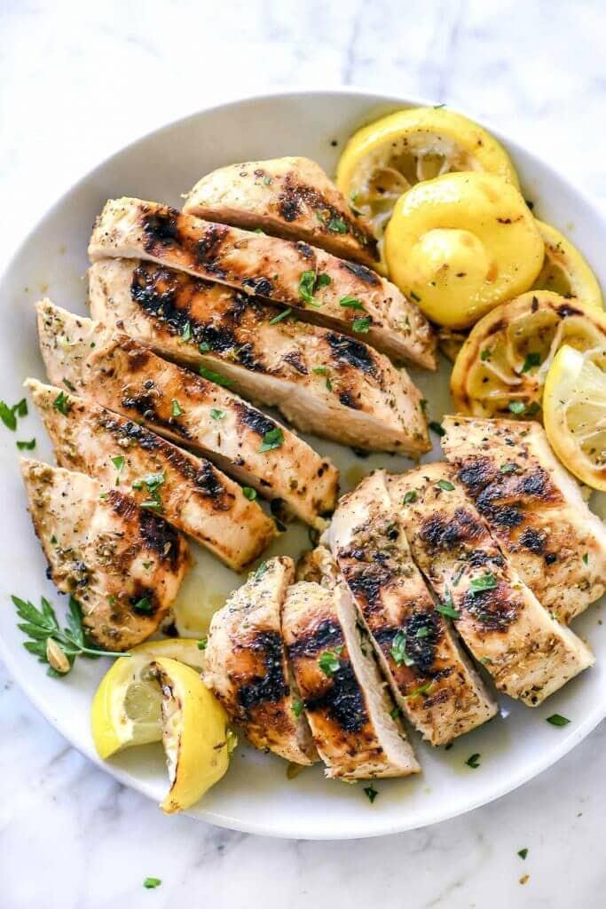 chicken with a Greek chicken marinade