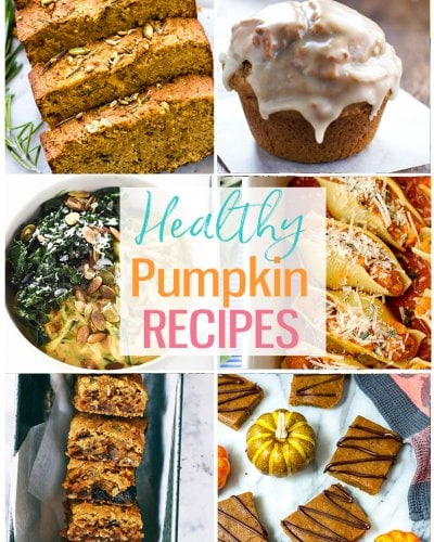 healthy pumpkin recipes collage