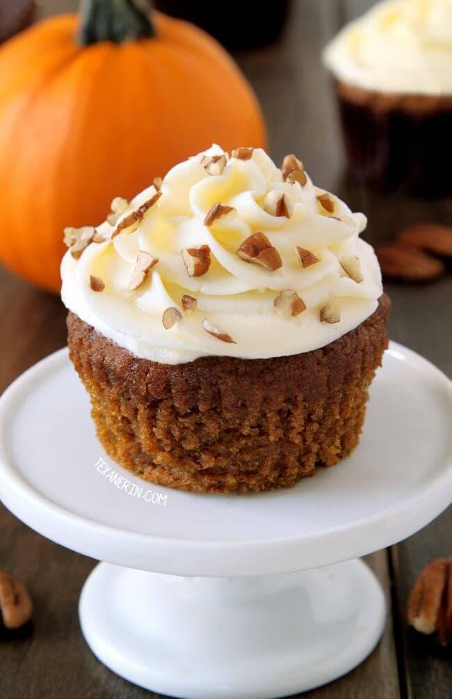 healthy pumpkin cupcakes (gluten free, dairy free)