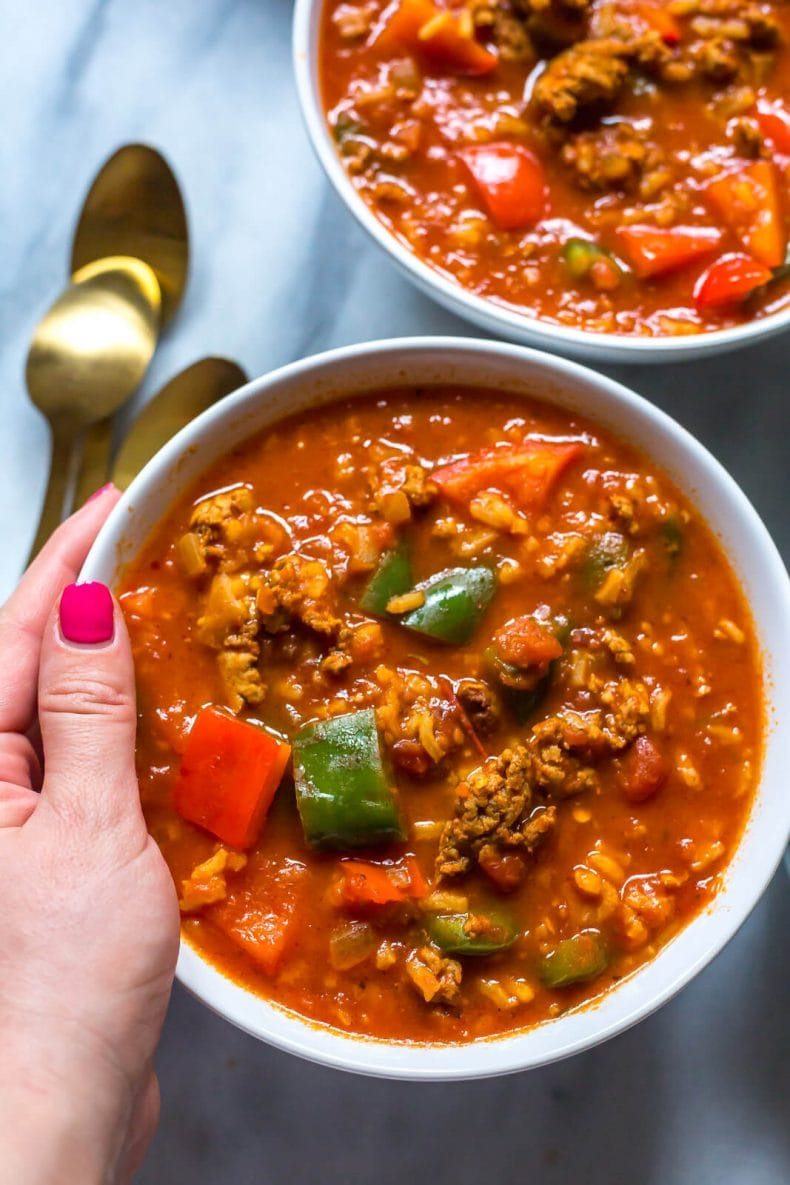 Instant Pot Stuffed Pepper Soup