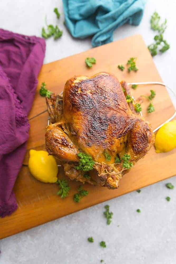 Instant Pot Whole Chicken, rotisserie style