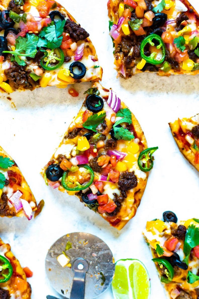 Meal Prep Individual Taco Pizza