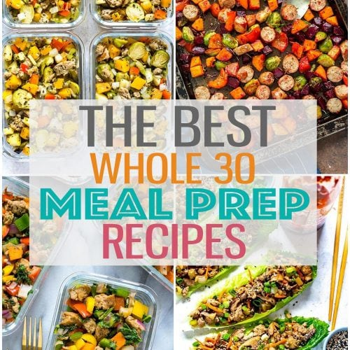 These Whole 30 meal prep recipes will give you inspiration to create healthy, wholesome meals in advance - so perfect for you to plan ahead well in advance for clean eating in the New Year! #whole30 #mealprep