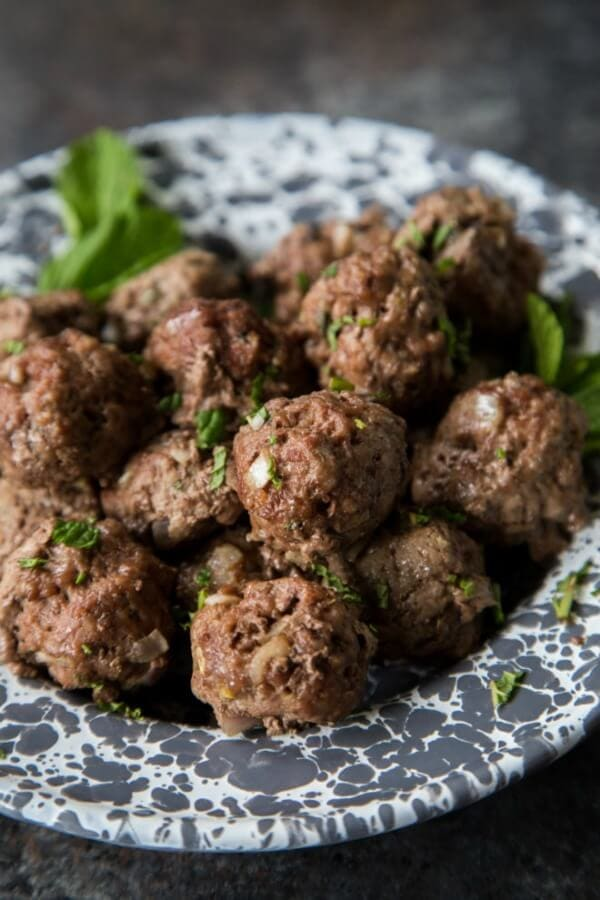 whole 30 Greek beef and lamb meatballs
