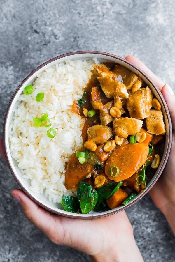 Asian peanut chicken freezer meal