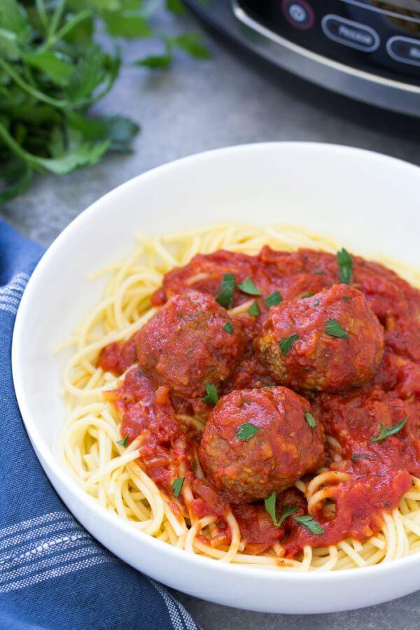 freezer friendly slow cooker Italian meatballs