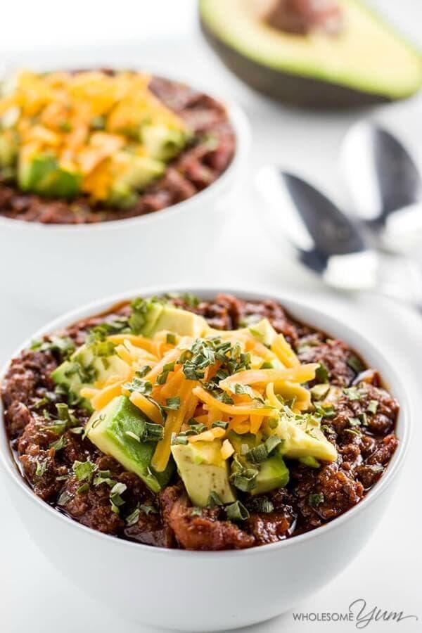 low carb crock pot chili