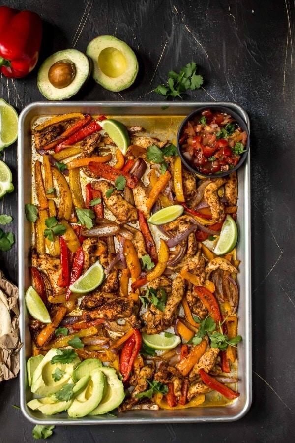 whole 30 meal prep chicken fajitas