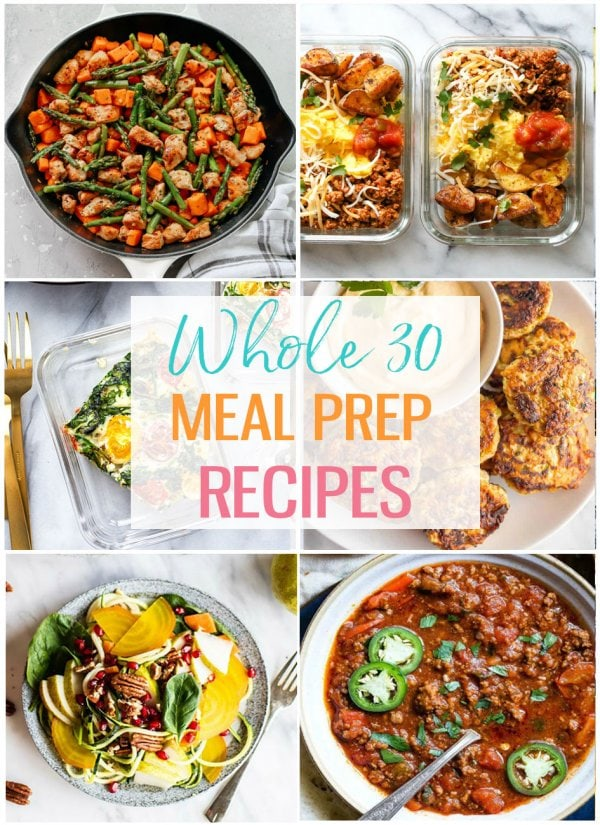 whole 30 meal prep recipes collage