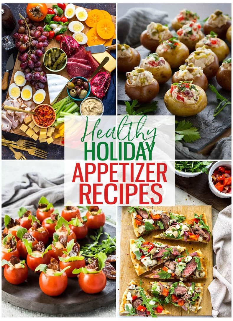 Healthy appetizers are not always easy to find at holiday parties. Ring in the new year in a healthy way with a few of these easy healthy appetizer recipes! #healthyappetizers #holidayappetizers